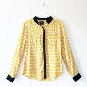 Maeve Marigold Horse Print Button Down Shirt
